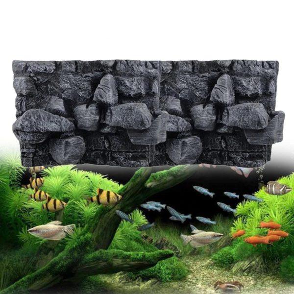 Gros rochers en relief décorations