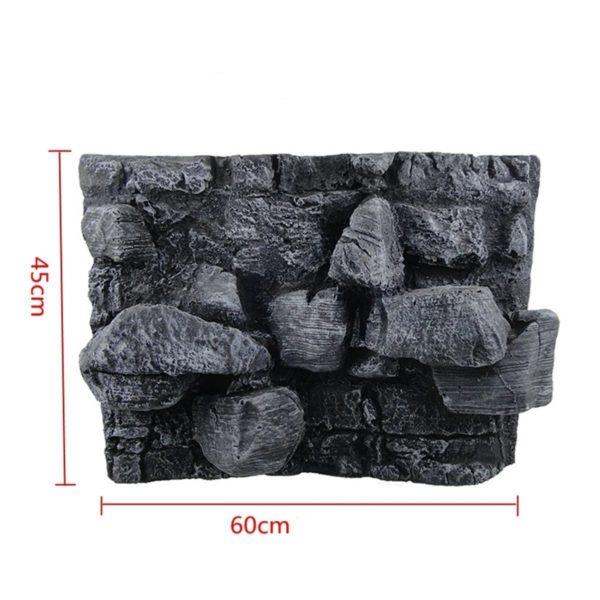 Gros rochers en relief pour aquarium