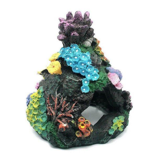 Grotte avec coraux pour poissons decoration aquarium