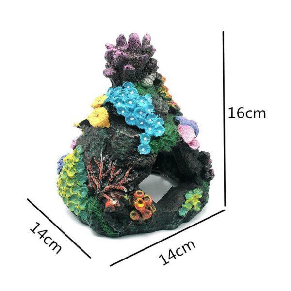 Grotte avec coraux pour poissons decoration d'aquarium