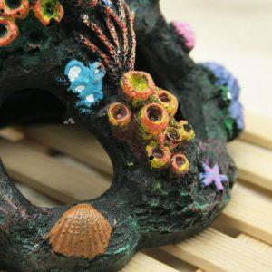 Grotte avec coraux pour poissons decoration pour aquarium