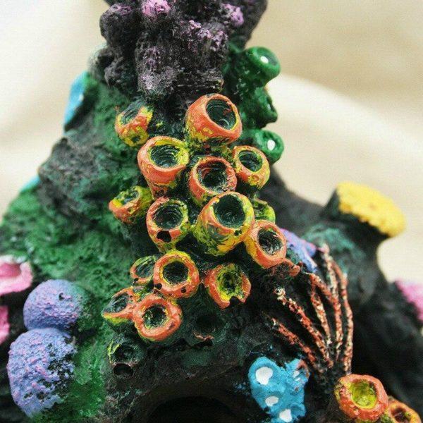 Grotte avec coraux pour poissons decorations pour aquarium