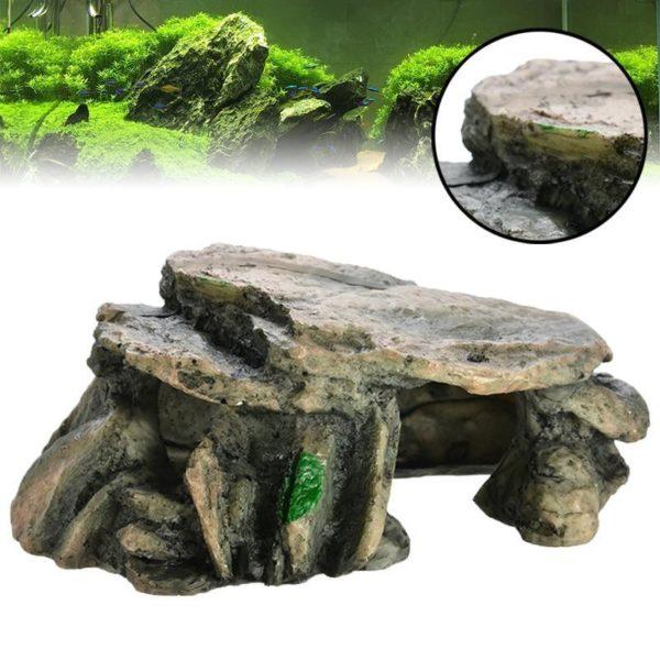 Grotte lisse pour poissons decoration d'aquarium