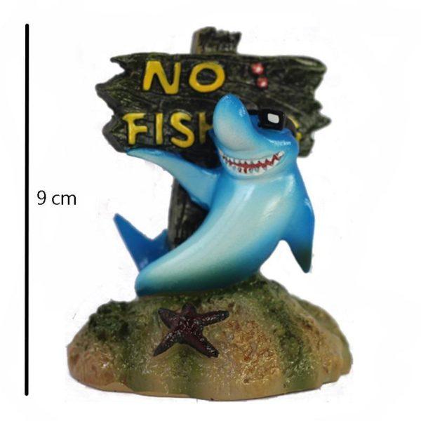 Humour Panneau No Fishing  decoration d'aquarium