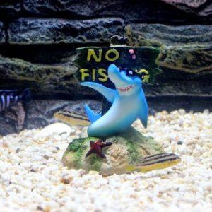 Humour Panneau No Fishing decorations pour aquarium