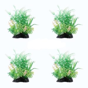 Lot de 4 Buissons decoration aquarium