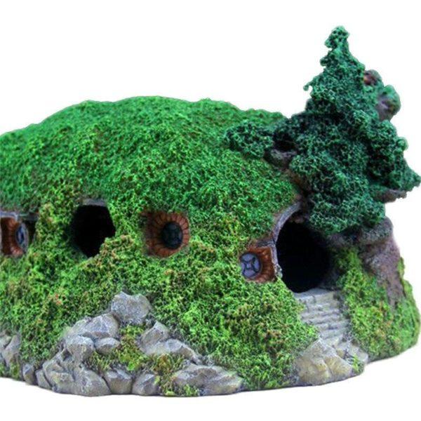 Maison Hobbit decorations aquarium