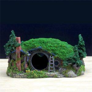 Maison Hobbit decorations pour aquarium