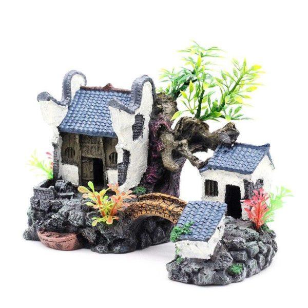 Maison avec Pont et Plantes décor