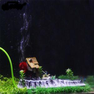 Maison avec moulin et rivière aquarium decoration