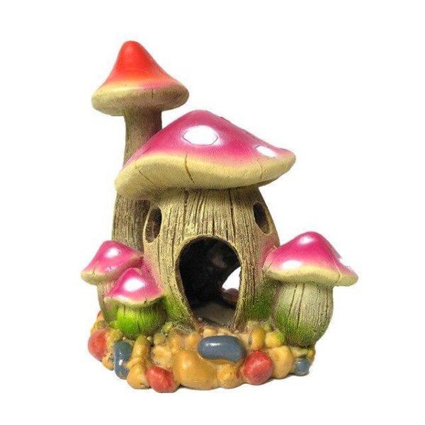 Maison champignon decoration pour aquarium