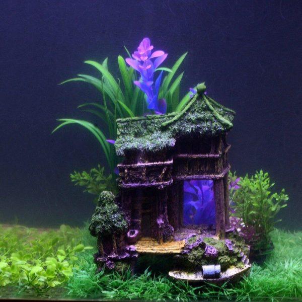 Maison éxotique decorations pour aquarium