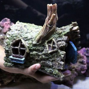 Maison tronc d'arbre decorations aquarium