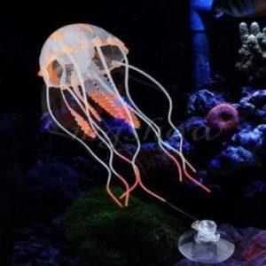 Méduses fluorescentes pack de 2 decoration d'aquarium