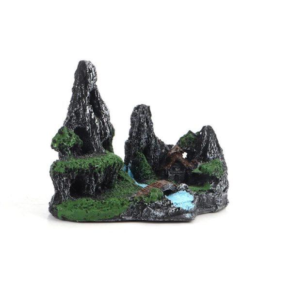 Montagne avec Rivière decoration aquarium