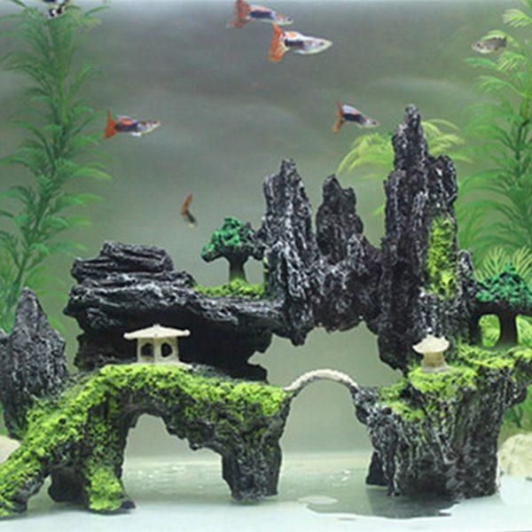 Paysage de montagne pour poissons decorations