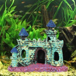 Petit château médiéval coloré aquariophile
