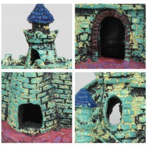 Petit château médiéval coloré deco