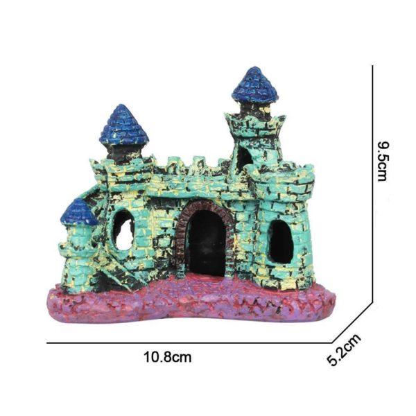 Petit château médiéval coloré decorations
