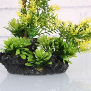 Plante Feuilles Oranges deco aquarium