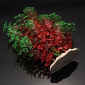Plante artificielle Verte et Rouge déco