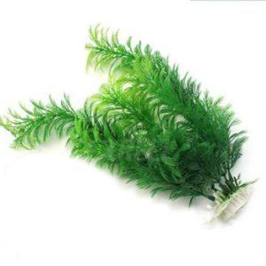 Plante artificielle verte en velours decoration aquarium