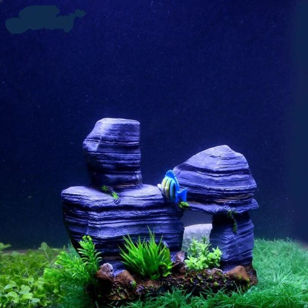 Rochers en équilibre aquarium pour poissons