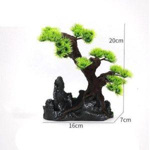 Rochers et arbre aquarium