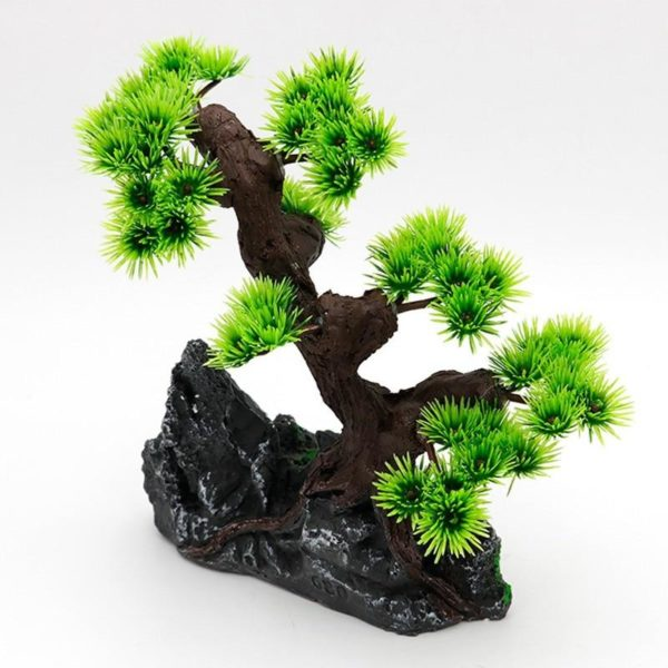 Rochers et arbre aquarium decoration