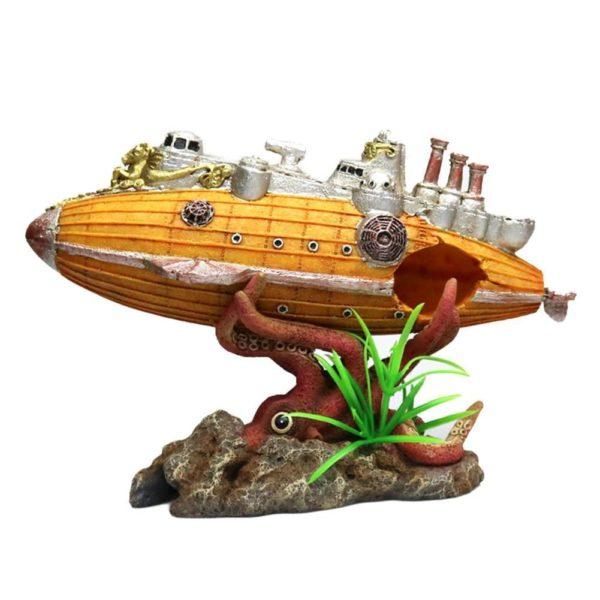 Sous-marin avec pieuvre