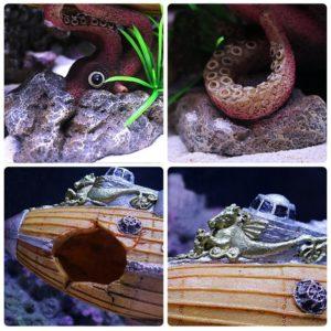 Sous-marin avec pieuvre pour poissons