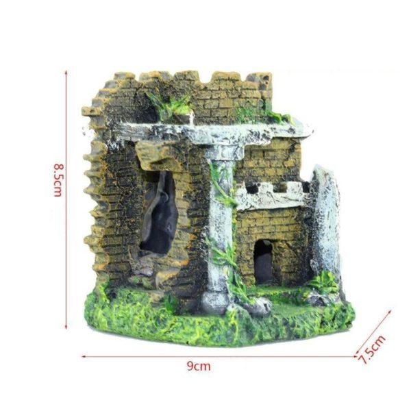 Temple en Ruine decorations aquarium