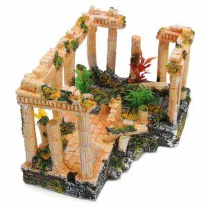 Temple grec géant pour poissons deco