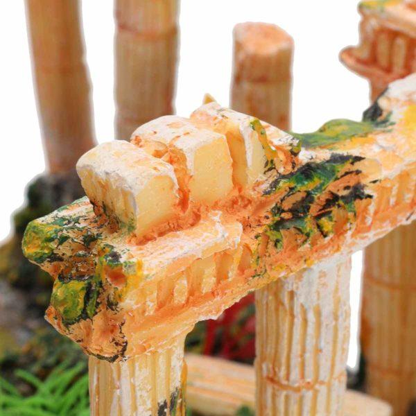Temple grec géant pour poissons déco
