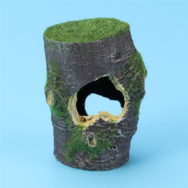 Tronc arbre creux aquarium decoration