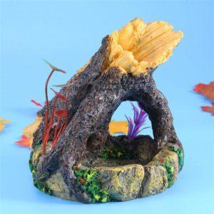 Tronc sur Rocher deco aquarium