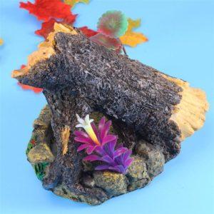 Tronc sur Rocher décoration aquarium