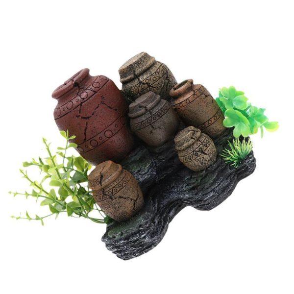 Vases antiques aquarium pour poissons