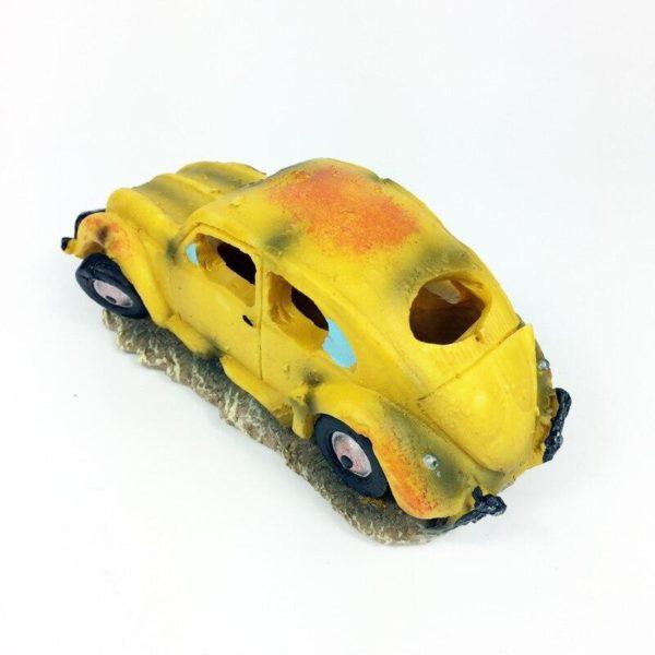 Vieille voiture jaune déco