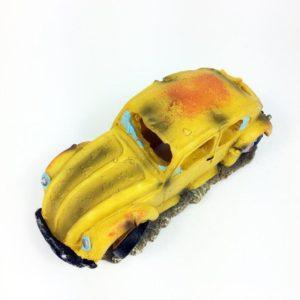 Vieille voiture jaune décorations
