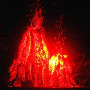 Volcan bulleur à double sortie décoration