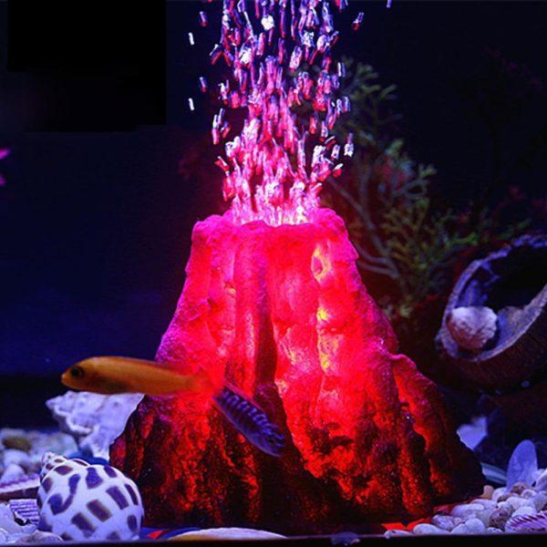 Volcan bulleur à double sortie pour aquarium