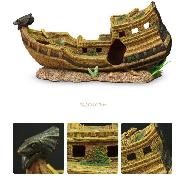 bateau égyptien aquarium decoration