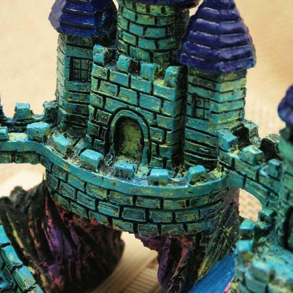 château médiéval décoration aquarium détaillé
