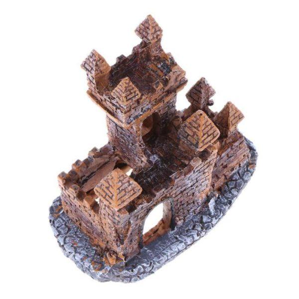 château en briques aquarium haut