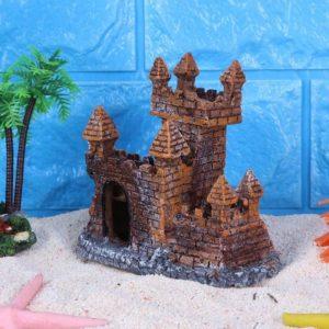 déco château en briques aquarium