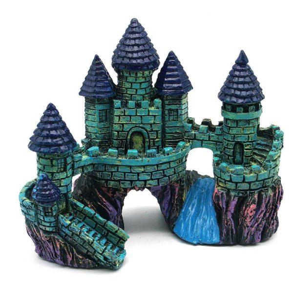 château médiéval décoration aquarium