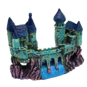 chateau sur rocher aquarium décoration