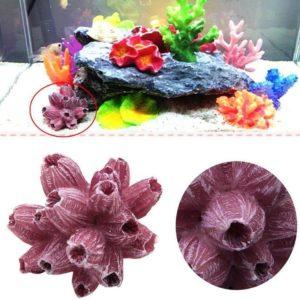Coraux artificiels rose aquarium résine