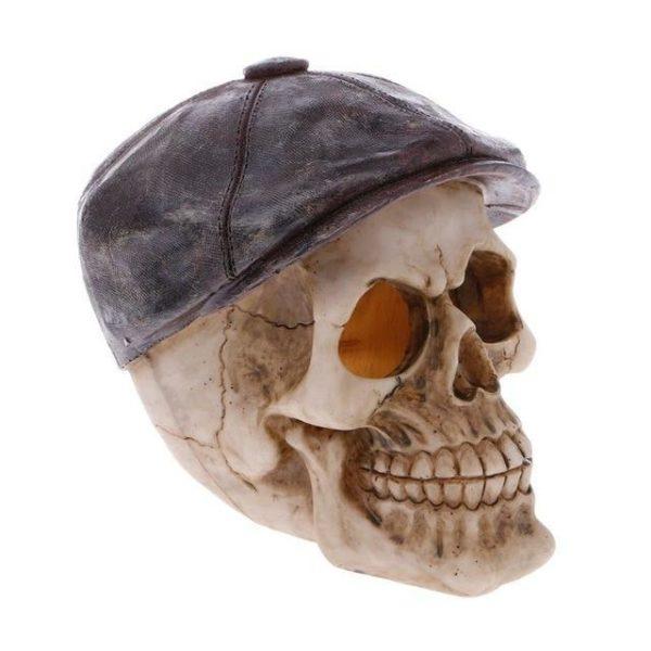 Crâne avec un béret aquarium